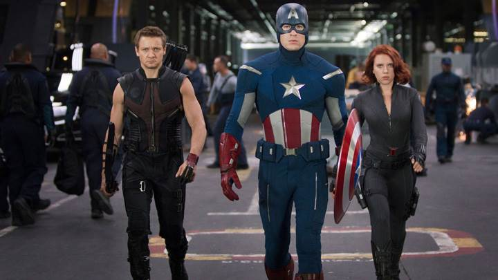 The Avengers – Jeremy Renner, Chris Evans And Scarlett Johansson
